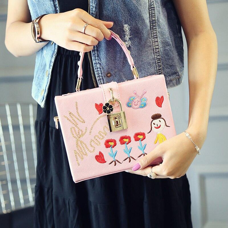 Flores de alta calidad y dulce corazón poco gir mujeres bolsa mujer - Bolsos - foto 5