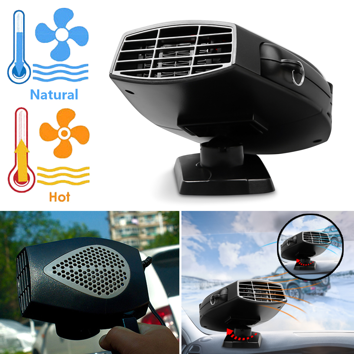 150W 12V Portable Car Truck Vehicle Electric Air Fan Auto Heater Heating Fan Car Windshield Windows Dryer Defroster Demister portable 150w ptc car vehicle heating heater hot fan defroster demister dc 12v