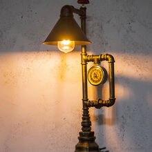 Креативная индустриальная ветровая настольная лампа прикроватная