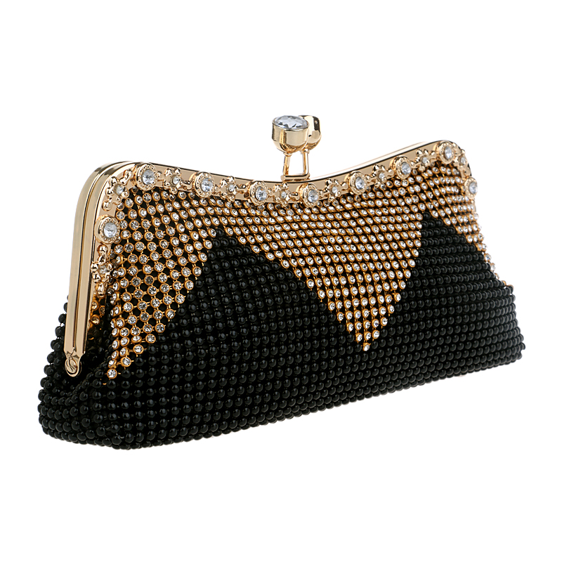 Women Clutch Bags Beaded Evening Pearl Diamonds Golden Handbags Wedding Bridesmaids Bridal Party Feast Bag With Chains In From Luggage