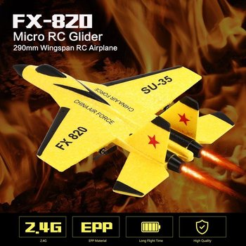 FX-820 2.4G 2CH Remote Control Drone RC Fixed Wing Airplane SU-35 Glider 290mm Wingspan EPP Micro Indoor Aircraft UAV RTF запчасть easing es 456hlo 29 1 1 8 ход 100мм
