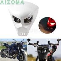Custom Motorcycle Streetfighter Headlight 12v 25w Alien Predator Mask Lighting Fairing Universal For Kawasaki Yamaha SV1000S