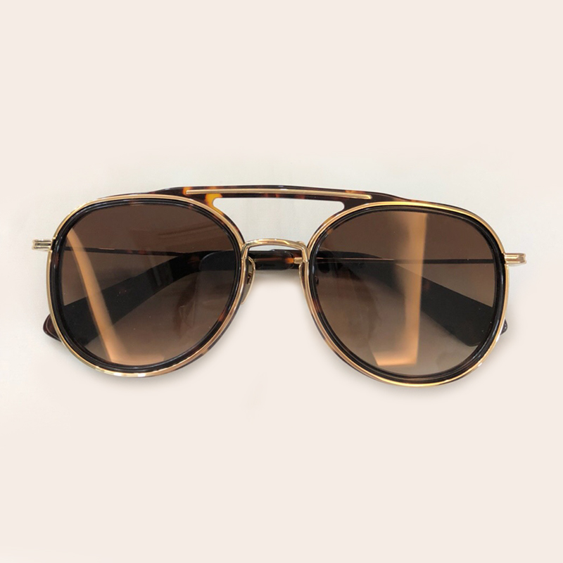 1 Mode no Feminino 7 Designer Sol 2 Runde Frauen no no 4 Legierung 2019 Marke Nase no Zwei 3 6 Oculos no Brillen 5 De Sonnenbrille Brücke Rahmen no No Luxus qatpxUa
