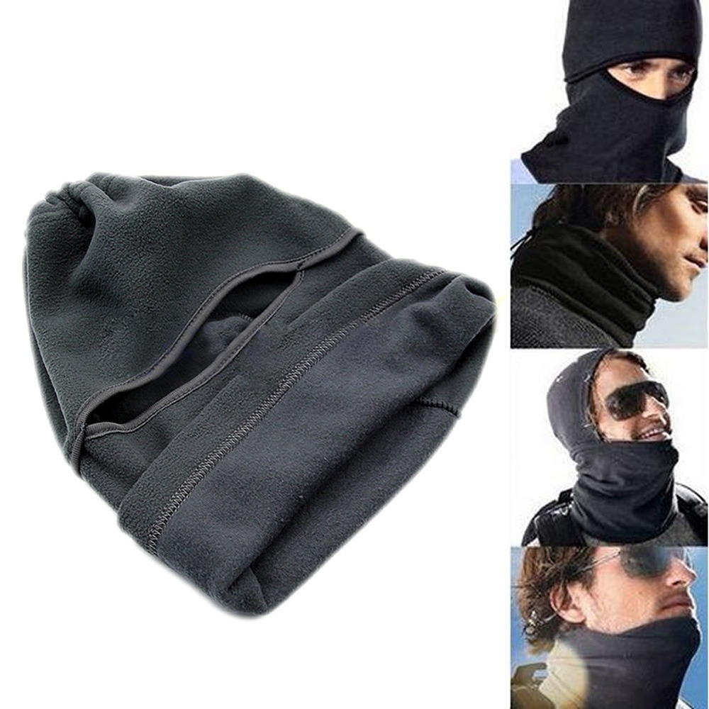 Unisex Thermal Fleece Balaclava Neck Winter Ski Full Face Mask Cover Cap For Motorcycle Face Mask Windproof Hat 7IEZ men s winter warm black full face cover three holes mask cap beanie hat 4vqb