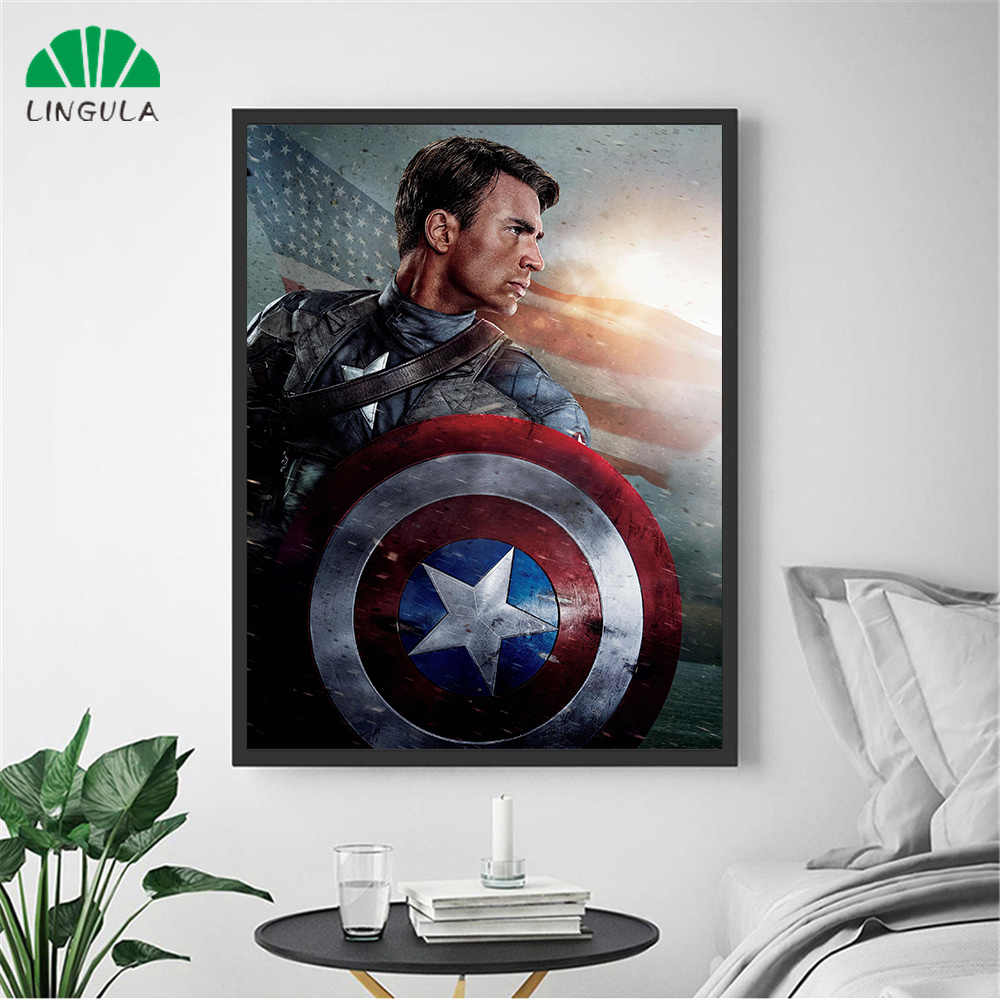 Captain America the First Avenger Movie Poster Canvas Painting Marvel Superhero Wall Art Pictures Home Decor Cuadros Decoracion