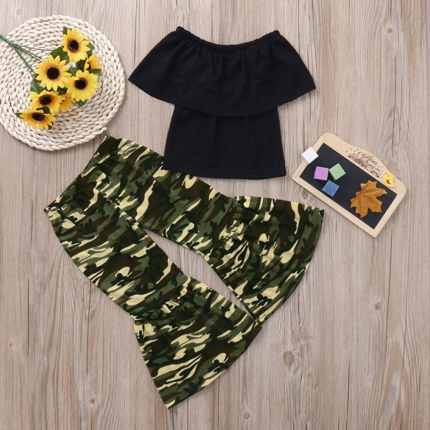 8c56fe6aeddd6 MUQGEW Hot summer baby girls clothes Camouflage Tops+Pants Set Outfits  Clothes pattern style baby suit for baby kids girls set-in Clothing Sets  from Mother ...