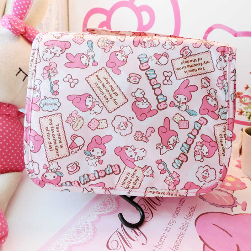 1pc cartoon Japan Anime my melody canvas Foldable Travel Storage cosmetic outgoing bags girls handbags gifts