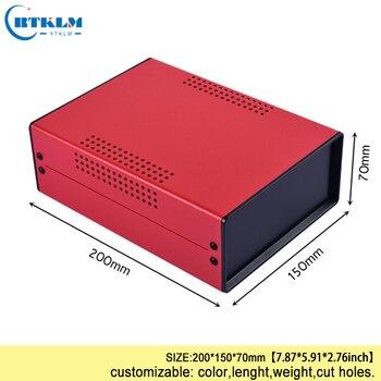 Demir Proje Kutu Muhafaza Elektronik Diy Için Tel Bağlantı Kutusu Alet çantası özel Masaüstü Muhafaza 200*150*70mm Kara Kutu