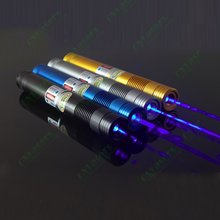 Wholesale NEW metal cased colorful OXLasers OX-BL8 445nm 1000-2000mW focusable burning  blue laser pointer with 5 caps  FREE  SHIPPING