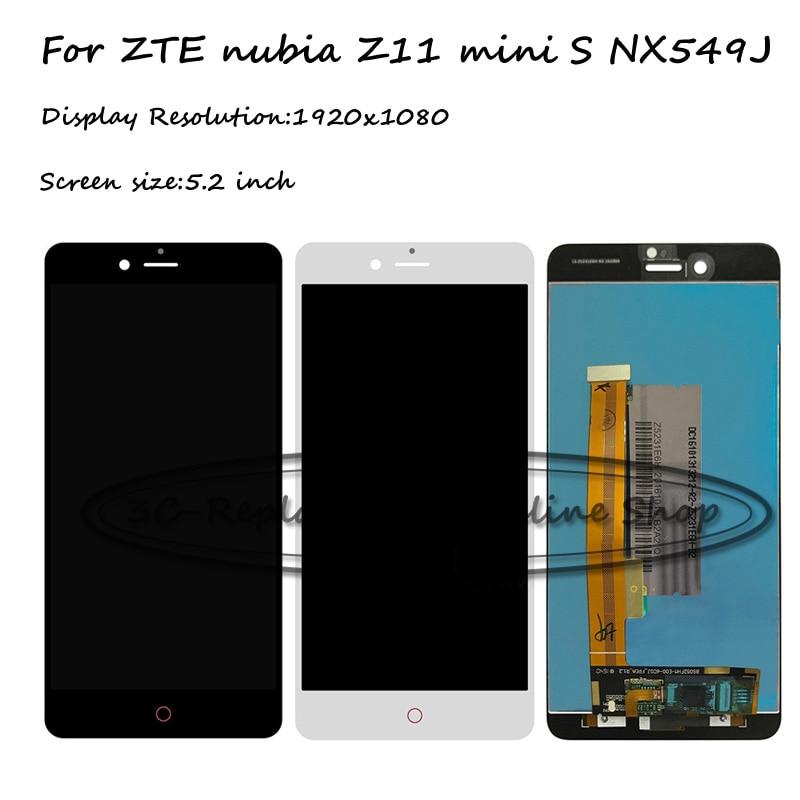 imágenes para Negro/blanco 5.2 pulgadas smartphone pantalla lcd + pantalla táctil digitalizador asamblea reemplazo para zte nubia z11 mini s nx549j