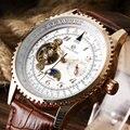 Legal Qualidade Hihg Forsining Relógio Marca Os Homens Se Vestem Relógios Pulseira De Couro Relógio de Pulso Boy relogio masculino W180204