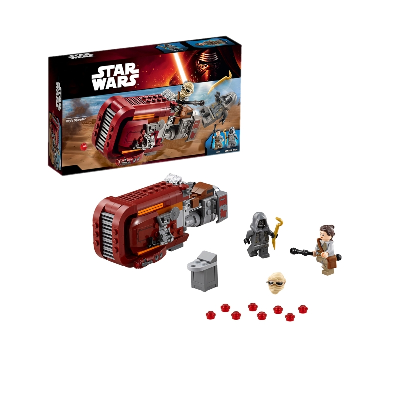 Lepin 05001 Star Wars Rey's Speeder building bricks blocks Toys for children Game Weapon Compatible with Decool Bela 75099 lepin 02012 city deepwater exploration vessel 60095 building blocks policeman toys children compatible with lego gift kid sets