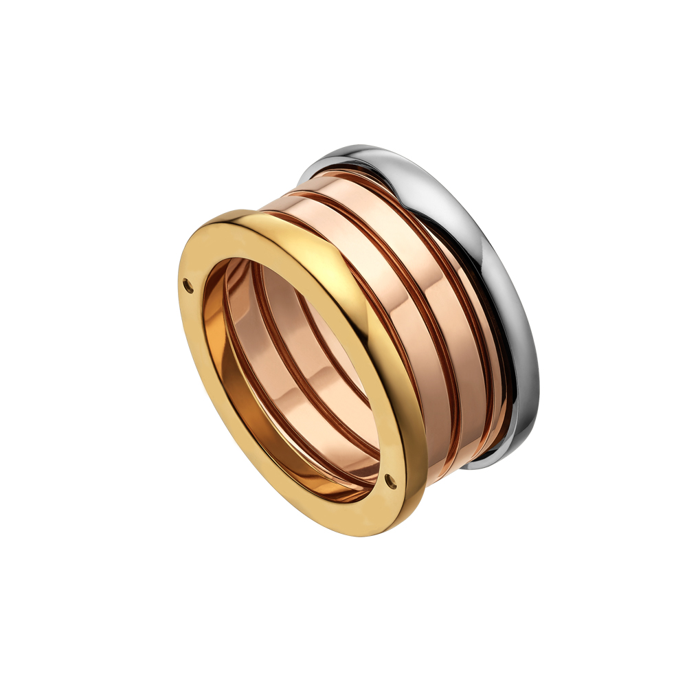 KnSam Couple Stainless Steel Wedding Bands Rectangle Smooth Gold Comfort Fit Plain Novelty Ring