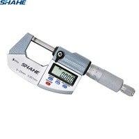 shahe IP65 Digital Micrometer 0 25mm 0.001mm Metric/Inch Electronic Outside Micrometro 0 25 mm