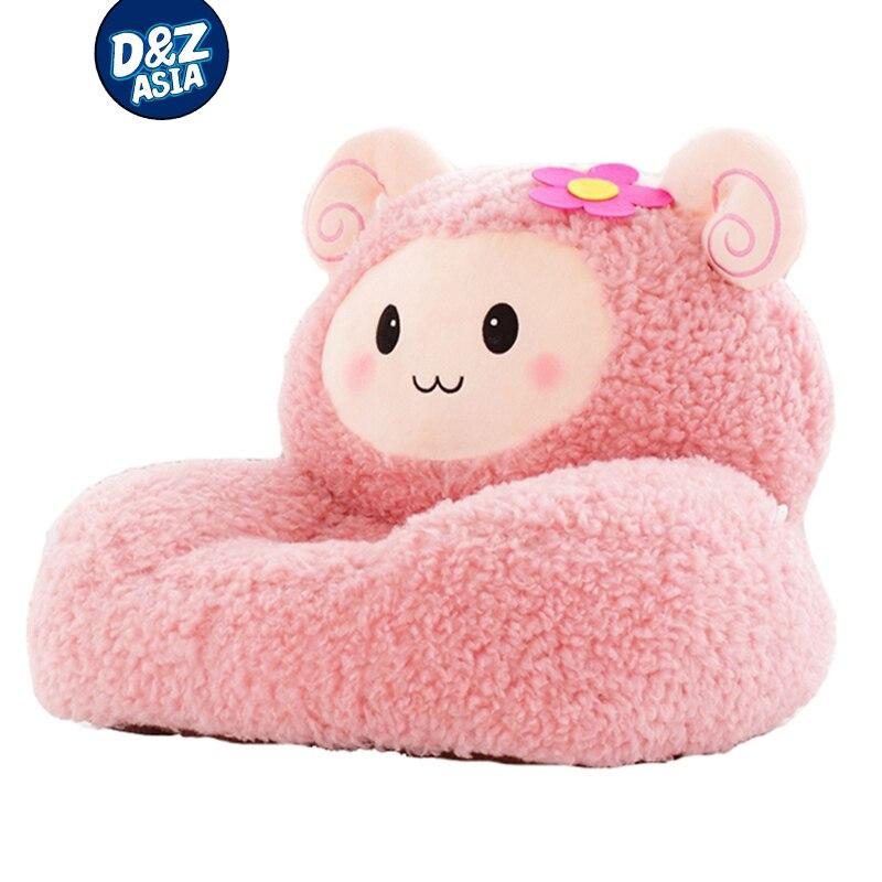 Dessin animé pour enfants mignon paresseux canapé enfants chaise siège en peluche mouton jouets siège tatami siège lavable jouets en peluche