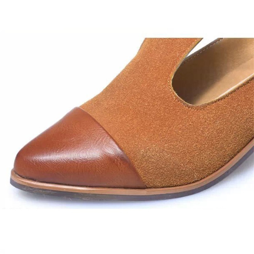 LIN KING New Classic Buckle Square Heel Women Pumps Pointed Toe Ankle Shoes Breathable Outdoor Female Single Shoes Zapatos Mujer in Women 39 s Pumps from Shoes
