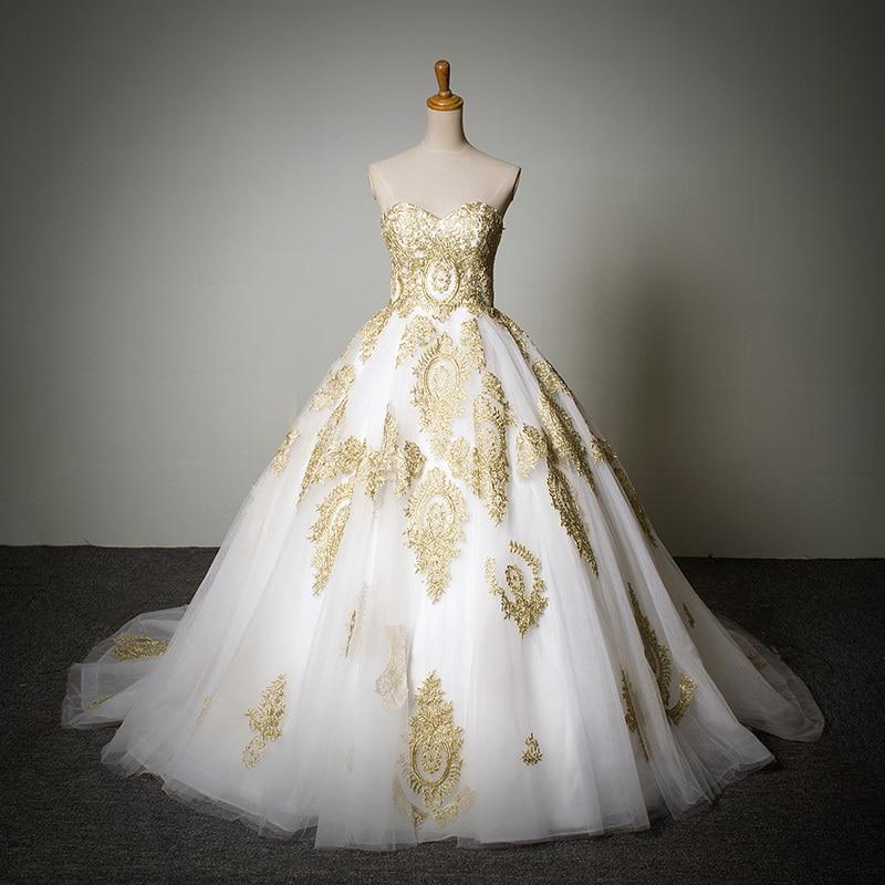 Vestidos de noiva mhamad 2016 red ball gown wedding dress for Wedding dresses in dubai prices