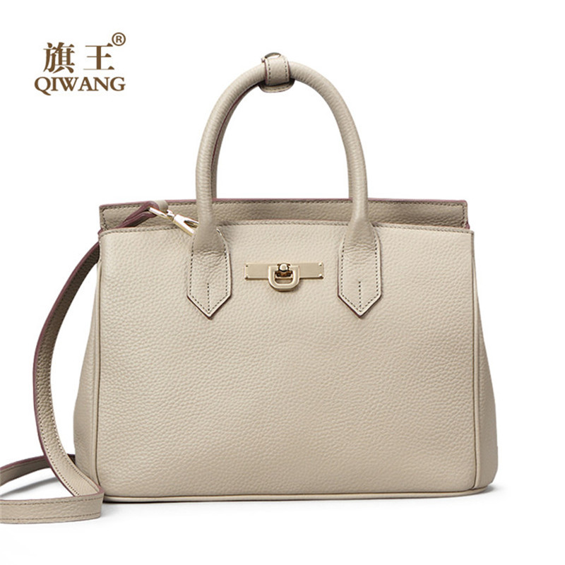 Qiwang Brand Women Bag Large Pebble Cow Leather Handbag Top Store Women Gray Tote Bag 100% Genuine Leather Brand Design Handbags 100% warranty lcd screen display with touch screen digitizer with frame assembly for tcl 3n m2l by free shipping