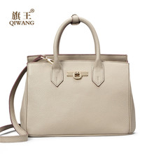 Qiwang Marke Frauen Tasche Große Pebble Kuh Leder Handtasche Top shop Frauen Grau Einkaufstasche 100% Echtes Leder Marke Design handtaschen
