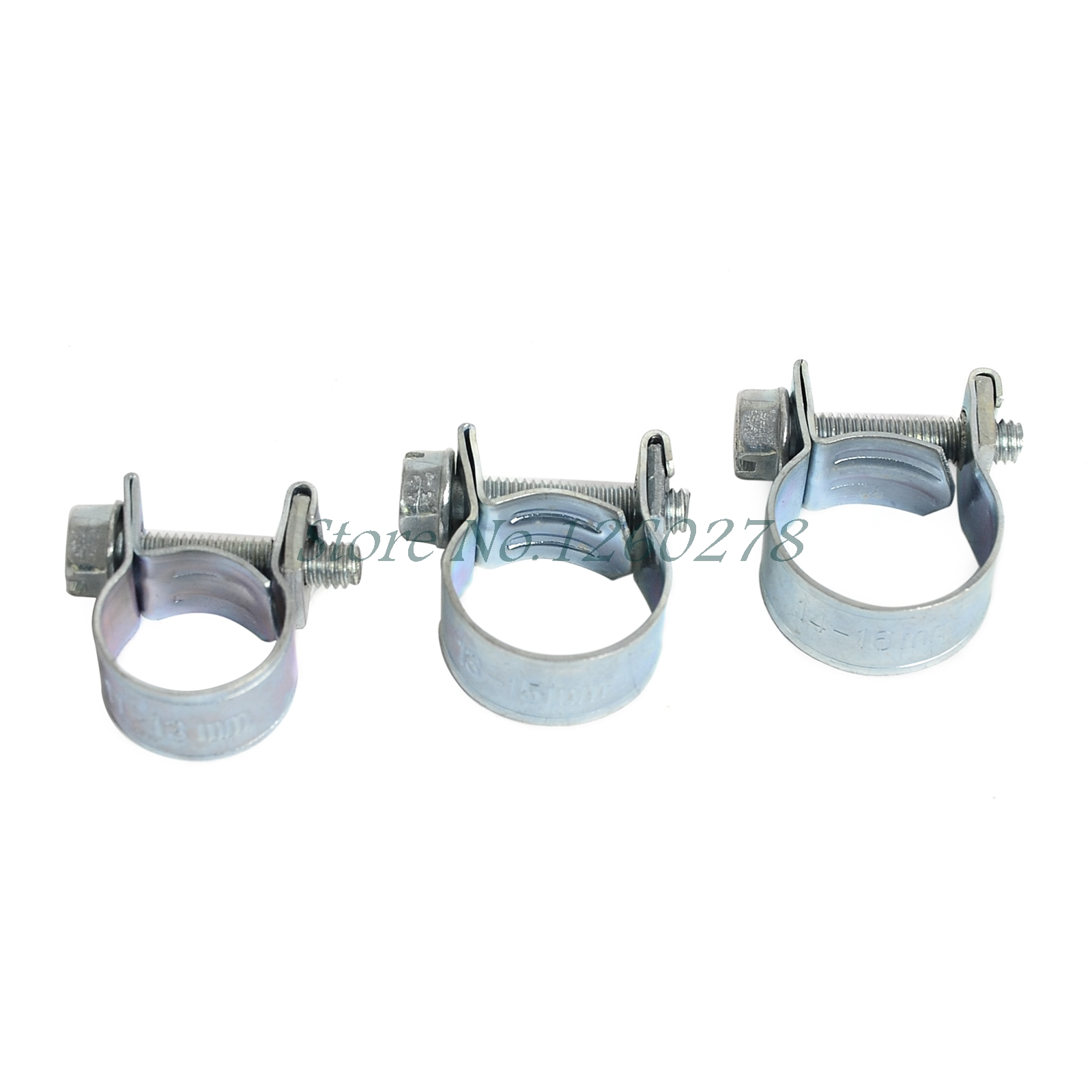 """US NEW 1//4/"""", 5//16/"""", 3//8/"""" FUEL INJECTION HOSE CLAMP AUTO Fuel clamps 30PCS"""