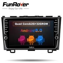 Funrover 8 »ips Android 8,0 автомобильный dvd мультимедийный плеер для Honda CRV 2006-2011 с автомобильным радио gps навигации мультимедийный плеер