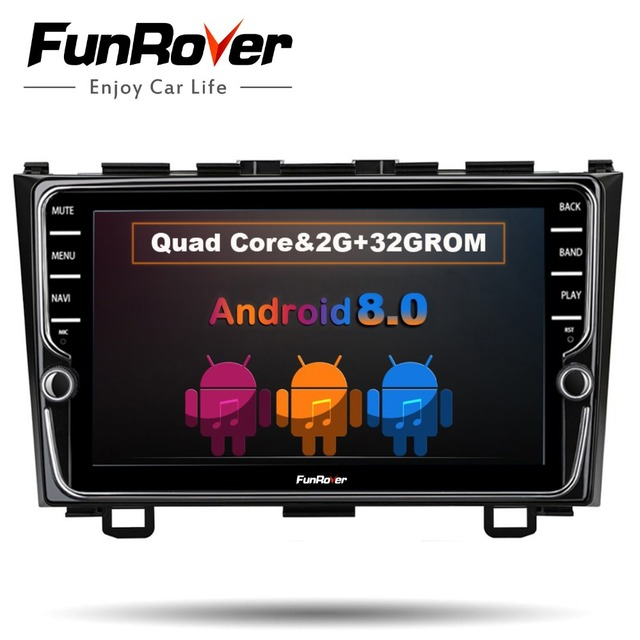 Funrover 8'' IPS Android 8.0 Car dvd multimedia player For Honda CRV 2006-2011 with car radio gps navigation multimedia player