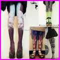 2017 Hot Sale Fashion Women Harajuku Tattoo Printed Tights With Cats 80 Denier Velvet Seamless Pantyhose Stockings