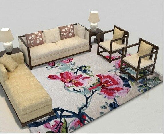 Japonais et coréen Floral célèbre marque tapis tapis modernes pour salon salon chambre européenne moderne 100% laine tapis