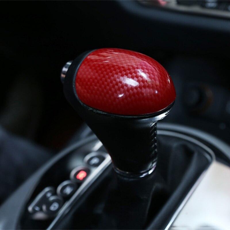 4D Carbon Fiber Car Gear Shift Knob Gear Head Cover Sticker For Kia Sportage R Cerato K3 K4 K5 Sorento 2011 2012 2013 2014 2015