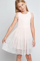 Summer Big Babies Lace Dots Dresses Teenager Princess tutu Dress Junior Sleeveless Dress 2018 Baby Girl Clothes