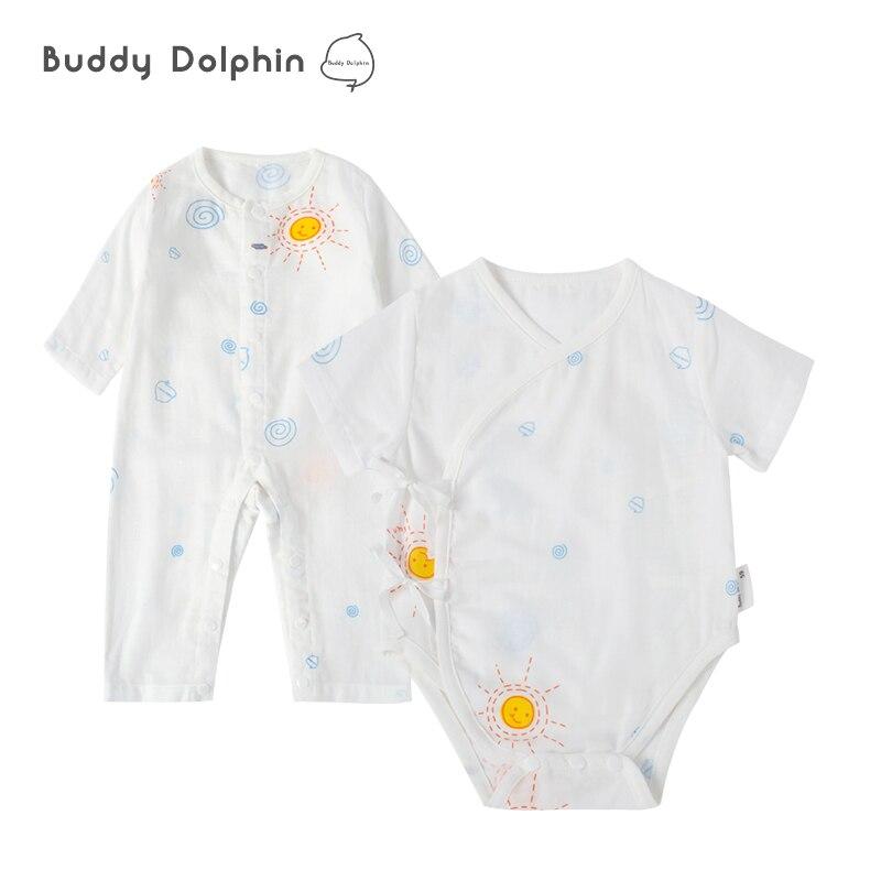 2Pcs/set Brand Baby Rompers Long/Short Sleeves 100% Cotton Newborn Baby Jumpsuits Sets Boys&Girls Roupas de Bebe Baby Clothes.