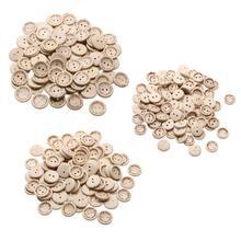 100 шт деревянные буквы, ручная работа, 2 отверстия пуговицы любовь Скрапбукинг кнопок(15/20/25 мм) для свадебное платье одежда украшения
