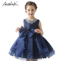 ActhInK Neue Kinder Hochzeit Tüll Kleider für Mädchen Formale Abend Party & Prom Weste Kleid Mädchen Festzug Kleider mit Bowtie, MC026