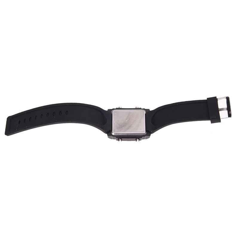 פלאש כפול זמן LCD הדיגיטלי תאריך יום מעורר LED גברים בני ספורט שעון יד מתנה