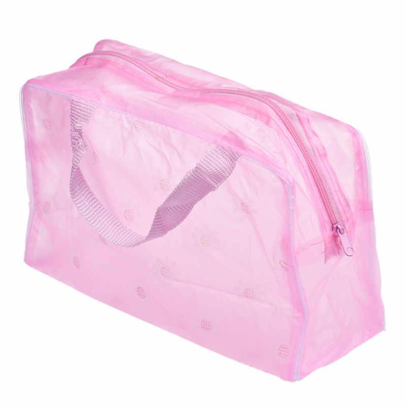 Túi Lưu Trữ Màu Sắc Tạo Nên Người Tổ Chức Túi Vệ Sinh Tắm Nữ Chống Nước Trong Suốt Hoa PVC Túi Đựng Mỹ Phẩm Du Lịch May28