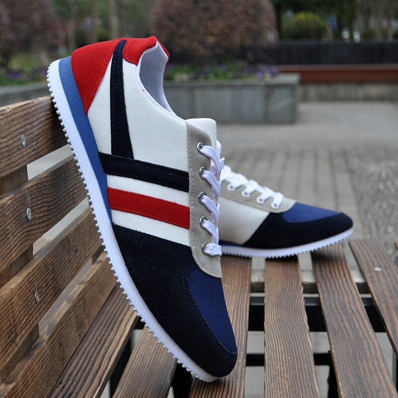 Blue Taille Tissu 39 Hommes Schoenen Mode red 44 Sapato Toile Homme Nouvelle Printemps Casual Automne Zapatillas Chaussures Exposition Sneakers qZT646