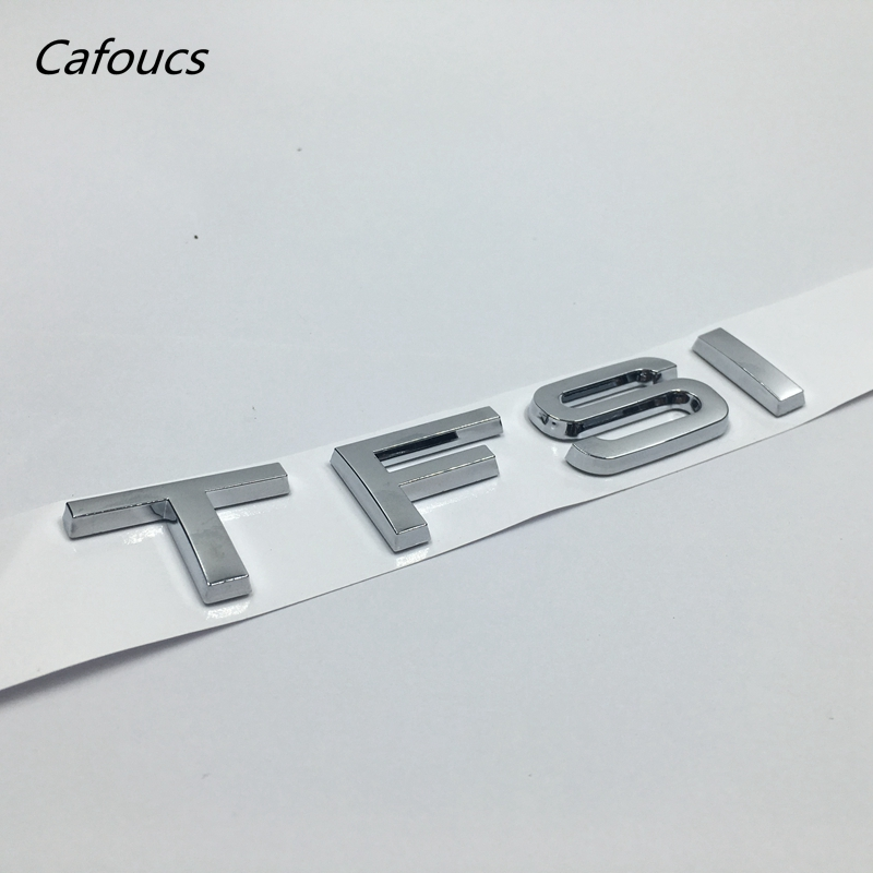 Cafoucs ABS TFSI Letters Car Rear Trunk Emblem Badge Sticker For Audi A3 A4 A6 TTS TT S3 S4 Accessories