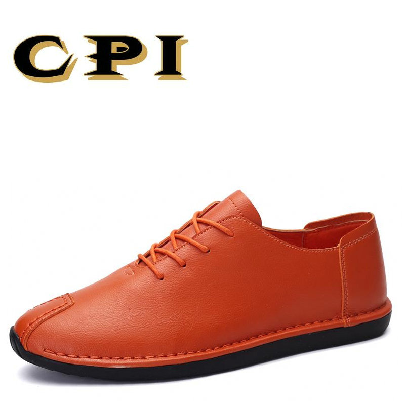 CPI 2018 New men flats shoes spring autumn low top casual shoes young Fashion Breathable genuine leather sneakers AA-45 spring autumn fashion men high top shoes genuine leather breathable casual shoes male loafers youth sneakers flats 3a