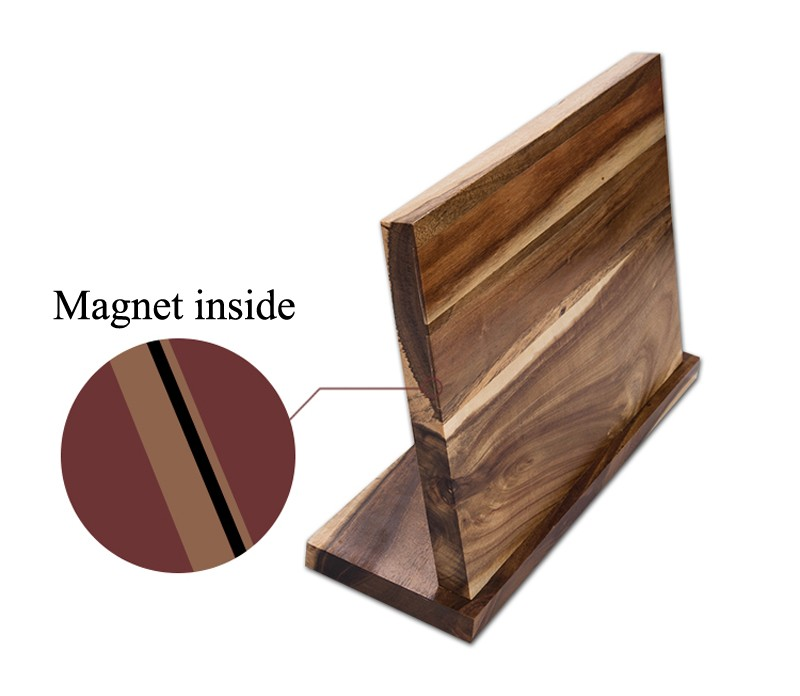 Strong Magnetic Knife Holder Wood Dry Anti-bacterial Knife Block Stand Knife Rack Cooking Frame Kitchen Accessories7