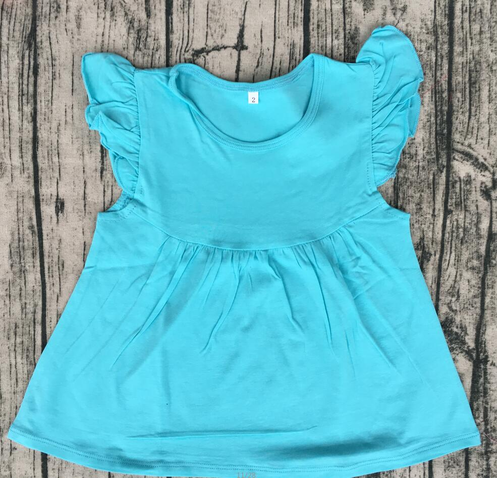 9882165334d2f Wholesale childrens boutique clothing kid flutter cap sleeves top pearl  dress boutique solid cute girl t shirts-in T-Shirts from Mother & Kids on  ...