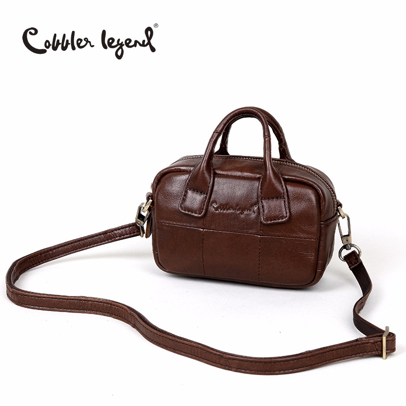 Cobbler Legend Small Bag Women Handbags Clutch Genuine Leather Female Designer Mini Shoulder Bag Lady Kawaii Top-Handle Bags