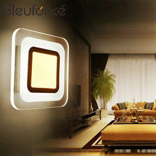 Modern Simple Square Wall Lamp Lighting Home indoor led Wall Lights 110V 220V Acrylic Decorative Lights led Wall Lamps BL149