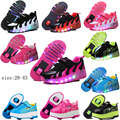 NEW 2017 Child LED Light Roller Skate Shoes For Children Kids Junior Girls Boys Sneakers