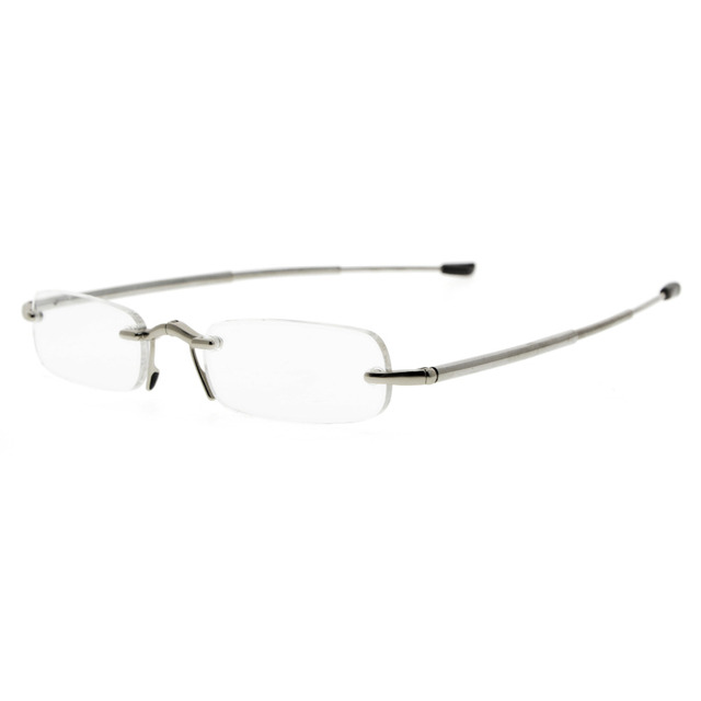 Eyekepper 3-Pack Tempio di plastica leggera Half-rim occhiali da lettura Uomo Donna Mix+1.00 P73Zq8