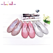 2017 Classsic Women's Summer Walking Breathable Jelly Sandals Ladies Comfortable and Softwalk Flat heel Shoes Sandalias Mujer