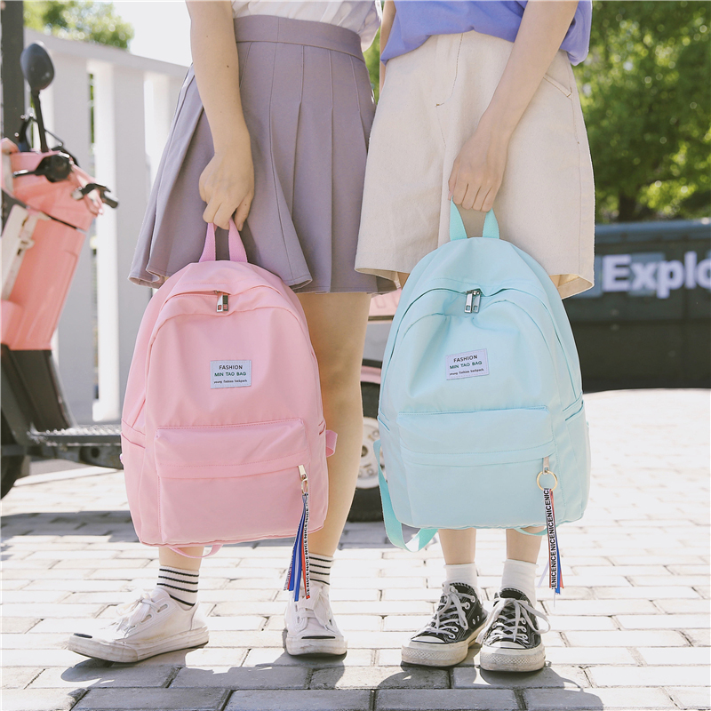 2019 New Backpack,Solid Color Fashion Backpack Female,Leisur