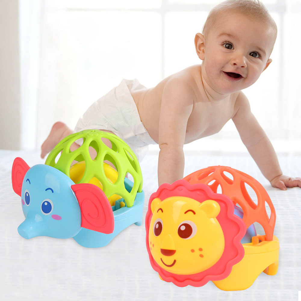 Baby Rattle Lion Elephant Environmentally Safe Baby Teether Toys Baby Cute Crib Rattle for Newborn Gift