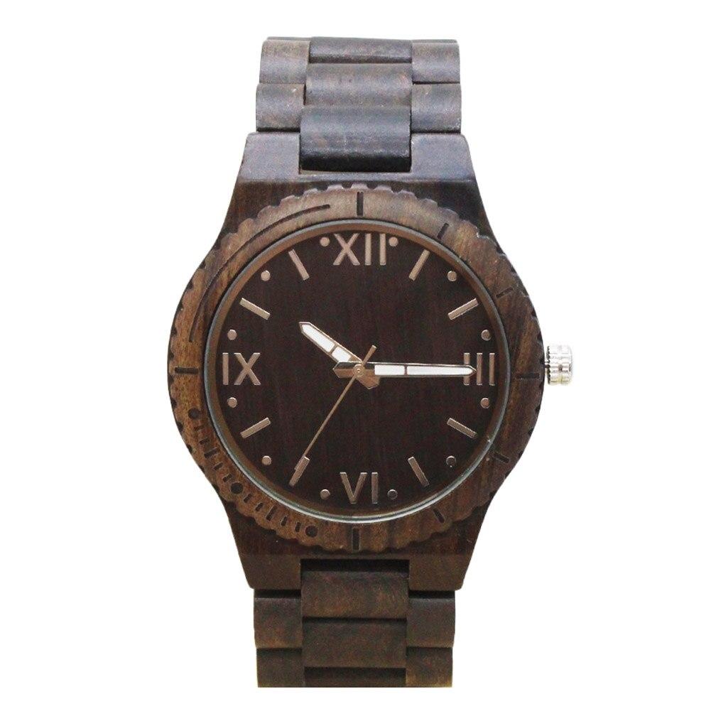 цена на TJW Hot Sale Simple Fashion Men Wood Watches Wooden Strap Clock Quartz Watch Man Casual Wristwatch TT@88