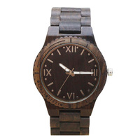 TJW Hot Sale Simple Fashion Men Wood Watches Wooden Strap Clock Quartz Watch Man Casual Wristwatch