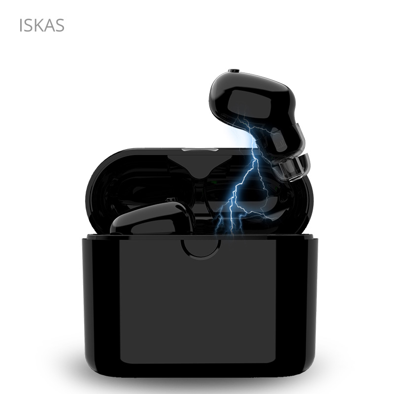 ISKAS Mini Bluetooth Headset Music Earbud Bluetooth 5.0 TWS Gaming Phone Bluetooth Phone Wireless Cell Phones Charging Box Bass iskas wireless earphones buttons head phones microphone cell phones blutooth electronics mini bluetooth handsfree good new